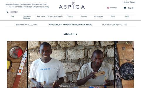 Screenshot of About Page aspiga.com - About us | Aspiga - captured July 30, 2018