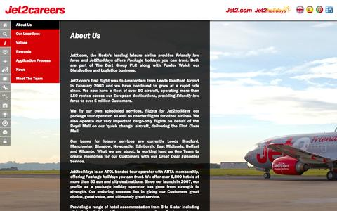 Screenshot of About Page jet2careers.com - About Us - captured Nov. 4, 2014