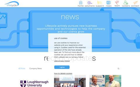 Screenshot of Blog Press Page lifecycle-software.com - Lifecycle Software | news - captured Nov. 10, 2018