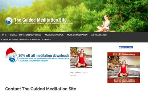 Screenshot of Contact Page the-guided-meditation-site.com - Contact - captured Dec. 5, 2016