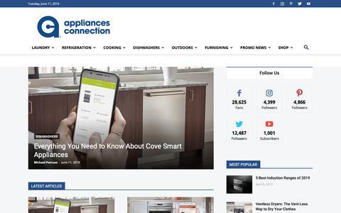 Screenshot of Blog appliancesconnection.com - Home & Kitchen Appliance Blog | Appliances Connection - captured June 11, 2019