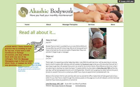 Screenshot of Press Page akashicbodywork.com - Akashic Bodywork| Massage and Bodywork for EVERY body| Nashua, NH | News - captured May 29, 2017