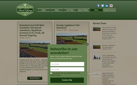 Screenshot of Press Page gahorseracing.org - Georgia Horse Racing Coalition - captured Nov. 5, 2016