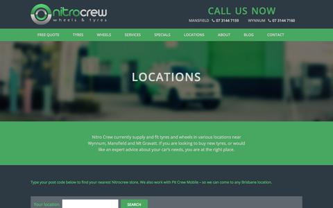 Screenshot of Locations Page nitrocrew.com.au - Locations - Tyres & Wheels - Nitro Crew - captured Feb. 3, 2018