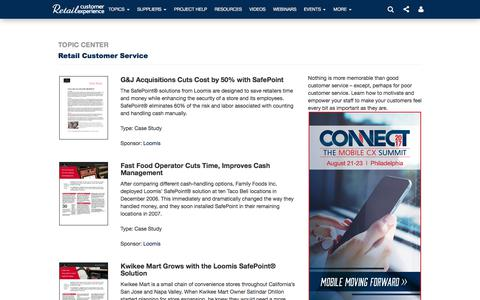 Screenshot of Support Page retailcustomerexperience.com - Retail Customer Service | Retail Customer Experience - captured June 21, 2017