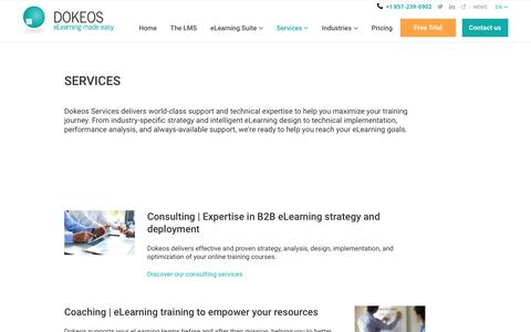 Need a custom elearning suite? See all the services provided by Dokeos