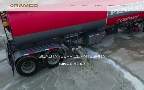 Screenshot of Home Page ramco.us.com - Home - Ramco - captured Nov. 29, 2016