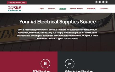 Screenshot of Services Page sdmassociatesinc.com - Services   SDM & Associates - captured Nov. 5, 2018