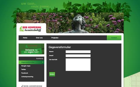 Screenshot of Contact Page kemperink.nl - Gegevensformulier - Kemperink - captured Sept. 30, 2014