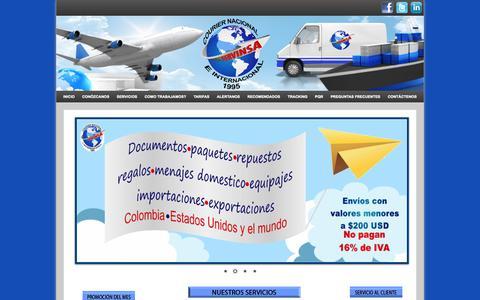 Screenshot of Home Page servinsaltda.com - SERVINSA - captured Sept. 2, 2017