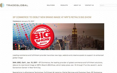 Screenshot of Press Page tradeglobal.com - SP Commerce to Debut New Brand Image at NRF's Retail's Big Show - TradeGlobal® - captured Feb. 20, 2020