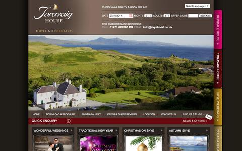 Screenshot of Site Map Page skyehotel.co.uk - Toravaig House Hotel, Isle of Skye, Scotland - captured Oct. 7, 2014