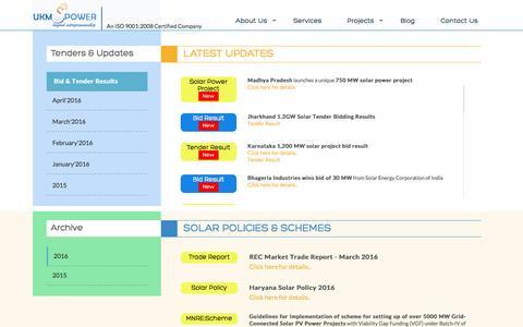 Screenshot of Blog ukmspower.com - Blog | UKM Spower solutions Pvt Limited - captured April 12, 2016