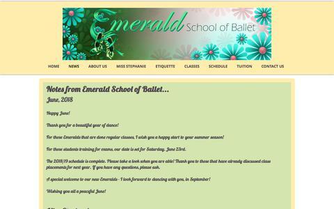 Screenshot of Press Page emeraldschoolofballet.com - Emerald School of Ballet   NEWS - captured July 10, 2018