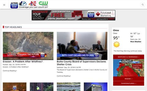 Screenshot of Home Page actionnewsnow.com - Home - captured Sept. 26, 2018