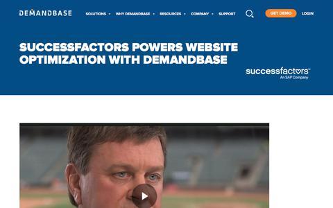 Screenshot of Case Studies Page demandbase.com - SuccessFactors Powers Website Optimization with Demandbase - captured Nov. 6, 2019