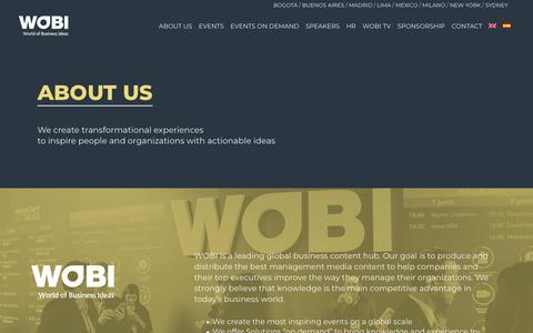 Screenshot of About Page wobi.com - WOBI |   About us - captured June 5, 2018