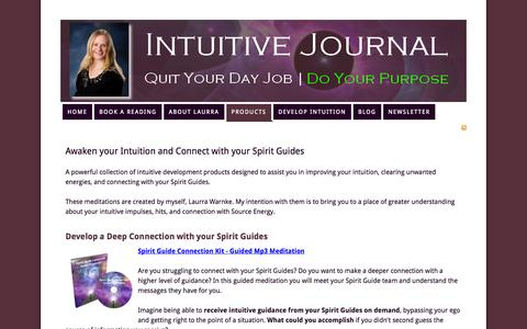 Screenshot of Products Page intuitivejournal.com - Awaken your Intuition and Connect with your Spirit Guides — Intuitive Journal - captured Oct. 31, 2014