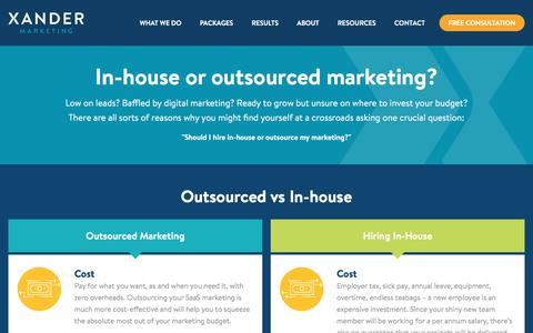Should You Outsource SaaS Marketing? | Xander Marketing