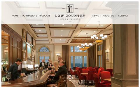 Screenshot of Home Page lccm.com - Homepage - Low Country Case and Millwork - captured Feb. 1, 2016
