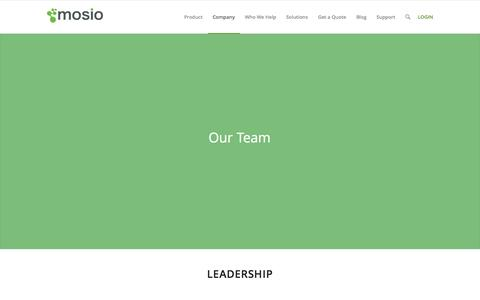 Screenshot of Team Page mosio.com - Mosio for Research |   Team - captured Nov. 5, 2014