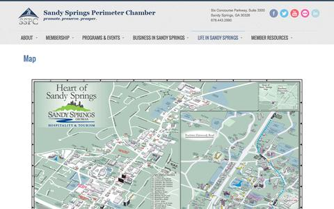 Screenshot of Maps & Directions Page sandyspringsperimeterchamber.com - Map  - Sandy Springs/Perimeter Chamber of Commerce - captured Nov. 18, 2016