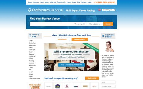 Screenshot of Home Page conferences-uk.org.uk - Conferences UK | Conference Venues in London | Conference Centres - captured May 20, 2017