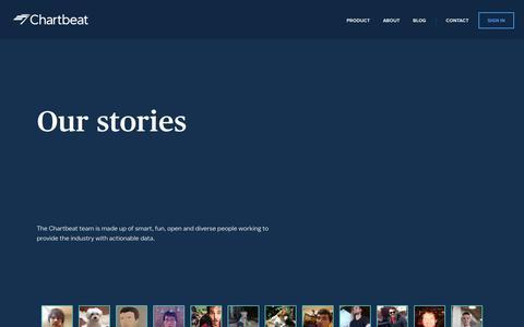 Screenshot of Team Page chartbeat.com - Chartbeat   Team - captured Oct. 5, 2017