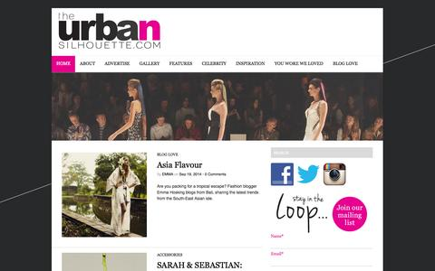 Screenshot of Home Page theurbansilhouette.com - The Urban Silhouette | The best new Australian fashion designers and boutique labels - captured Sept. 19, 2014