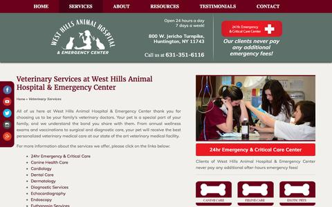 Screenshot of Services Page whahzoo.com - Huntington Veterinarian | Vet in Huntington | Huntington Vet | Animal Hospital in Huntington - captured Oct. 20, 2017