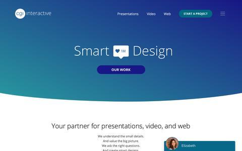 Screenshot of Home Page cgiinteractive.com - CGI Interactive | Digital Design Agency - captured Feb. 5, 2019