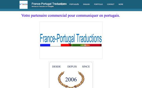 Screenshot of Home Page franceportugal-traductions.com - France-Portugal Traductions-  page d'accueil - captured Aug. 17, 2018