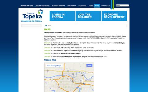 Screenshot of Maps & Directions Page topekachamber.org - Maps | Greater Topeka Chamber of Commerce - captured Oct. 1, 2014