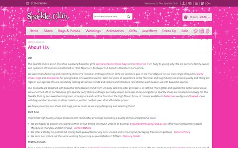Screenshot of About Page thesparkleclub.co.uk - About Us - captured Nov. 20, 2017