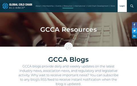 Screenshot of Blog gcca.org - GCCA Resources | Global Cold Chain Alliance - captured Sept. 28, 2018