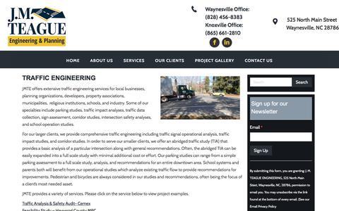 Screenshot of Developers Page jmteagueengineering.com - J.M. Teague Traffic Engineering & Planning - captured Sept. 29, 2017