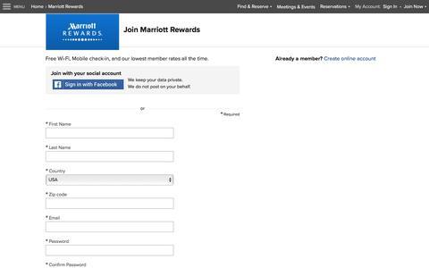 Join Marriott Rewards and find a Marriott membership application at Marriott.com