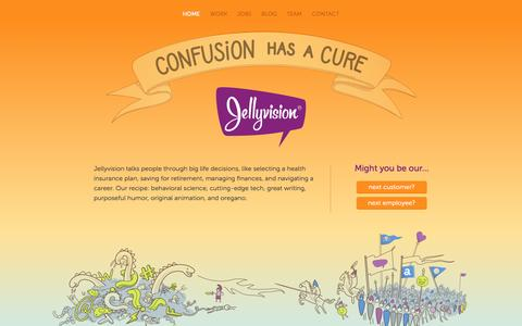 Screenshot of Home Page jellyvision.com - Interactive Employee Communication Software - Jellyvision - captured Nov. 10, 2015