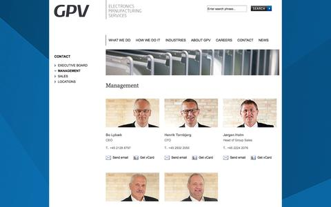 Screenshot of Team Page gpv-group.com - ...::: GPV :::... - Management - captured Oct. 1, 2014