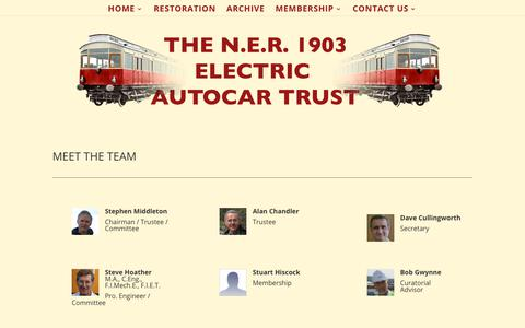 Screenshot of Team Page electricautocar.co.uk - THE TEAM | The 1903 Electric Autocar Trust - captured Feb. 24, 2018