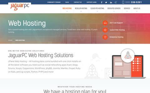 Screenshot of jaguarpc.com - Web Hosting - Jaguarpc - captured Dec. 9, 2016