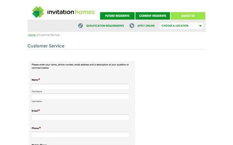 Screenshot of Support Page invitationhomes.com - Resident Services | Invitation Homes - captured June 8, 2017