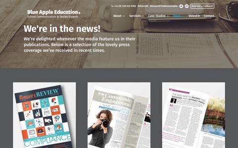 Screenshot of Press Page blueappleeducation.com - Press   Blue Apple Education - captured Aug. 2, 2018