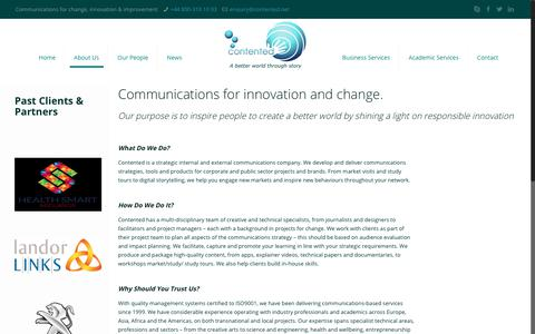 Screenshot of About Page contented.net - About Us – Contented - captured Sept. 29, 2018
