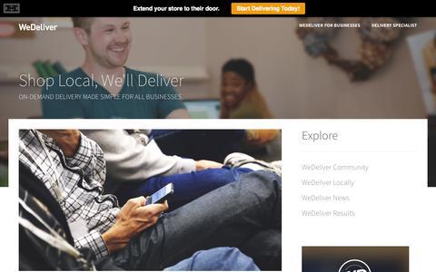 Screenshot of Blog wedeliver.us captured Sept. 17, 2014