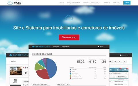 Screenshot of Home Page imobzi.com - Site e Sistema para imobiliárias e corretores de imóveis - Imobzi - captured June 26, 2016