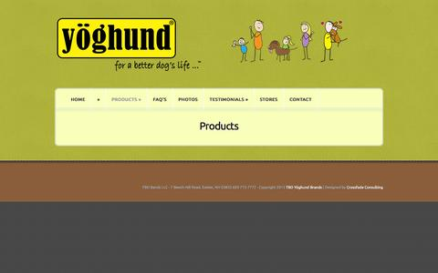 Screenshot of Products Page yoghund.com - Products | Yoghund - captured Oct. 9, 2014