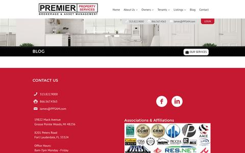 Screenshot of Blog ppsam.com - Blog - Premier Property Services - captured Nov. 11, 2016