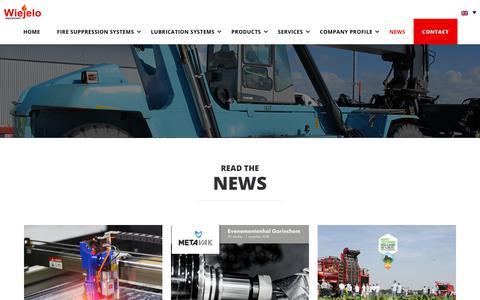 Screenshot of Press Page wiejelo.com - News - Wiejelo | Automatische Brandblussystemen & Automatische Smeersystemen - captured Oct. 18, 2018