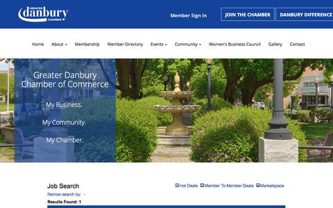 Screenshot of Jobs Page danburychamber.com - Job Search - Greater Danbury Chamber of Commerce - Greater Danbury Chamber of Commerce - captured Jan. 20, 2018